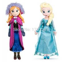 China Hot sale high quality plush toy Snow Queen princess 50cm Anna and Elsa Brinquedos Even Ola wholesale