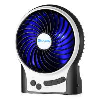 China Rechargeable 3 Speeds LED Mini USB Fan HandHeld Portable Desk Mini Fan wholesale