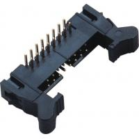 China 90°DIP Ejector Latch Header Male 16 Pin Idc Connector 2.00mm Pcb Pin Header wholesale