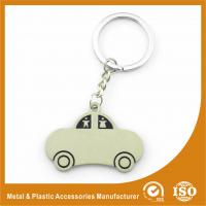 China Car Shape Custom Metal Keychains Nickel Roller / Nickel Satin wholesale