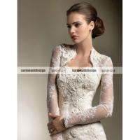 China CH1926 Beautiful sweetheart mermaid Floor Length Wedding Dress with long sleeve jacket on sale