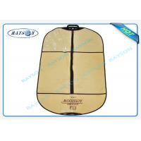 China Luxury Silk Screen Printing Logo Zippered Garment Storage Bags Dust Proof wholesale