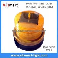 China 4LED Amber Yellow Color Solar Powered Magnetic Flashing Beacon Floating Barrel Lights Buoy Signal Lights Offshore Lights wholesale