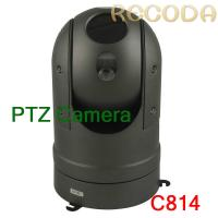 Quality IP66 Waterproof Car PTZ Camera Support Night Vision / Zoom Infrared , Metal for sale