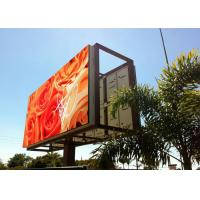 China P10 Outdoor Led Digital Billboards High Resolution Full Color Real Pixels wholesale