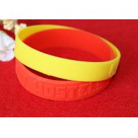 China Minimalistic Pattern Custom Silicone Rubber Wristbands Without Deformation wholesale