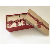 China Fancy Empty Xmas Gift Boxes With Ribbon Bow Tied , Candy Christmas Gift Wrap Boxes wholesale