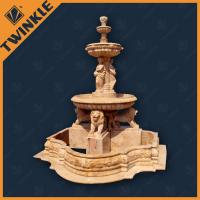 China Angel Hand Carved Stone Water Fountains Statue With Lion Head , Custom wholesale