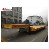 China Excavator Gooseneck Lowboy Semi Trailer 4mm Thick Tread Plate Floor on sale