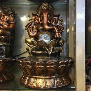 China BLVE Ganesh Bronze Buddha Water Fountain Hindu God Statues Copper Fountain Life Size wholesale