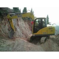 China Four Strokes Mini Hydraulic Excavator , Case Mini Excavator Max Digging Reach 6130mm Water Cooling wholesale