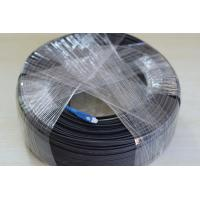 Quality Black Jacket 1 Core FTTH Fiber Optic Cable Optical Fiber Patch Cord For CATV for sale