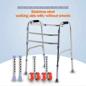 China Sponge Armrest Folding Walking Frame , Handicap Walking Aids For Seniors wholesale