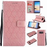 China Samsung NOTE 8 Leather Protective Case with Flower Embossed Pattern on sale