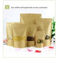 China Food Grade Kraft Paper Bag With Clear Window / Mylay Bag For Bean , Candy , Bread , Coffee wholesale