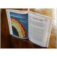 Quality Light Weight Acrylic Menu Holder , Clear Acrylic Cookbook Holder With No Toxicity for sale