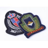 Quality Custom Embroidered Military Patches Beret Cap Badge , Cool Military Hat Patches for sale