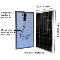 Buy cheap TPT Backsheet Residential 100W  Polycrystalline Solar Module 3.2mm Tempered Glass from wholesalers