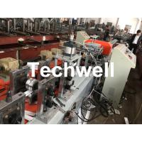 China PU Foam Rolling Shutter Door Slat Roll Forming Machine With 0-15m/min Forming Speed , Gearbox Drive Type wholesale