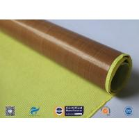 China 0.13mm Self - Adhesive Tape Brown PTFE Coated Fiberglass Fabric on sale