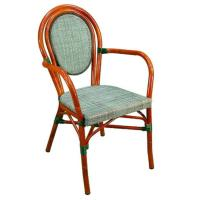 Quality Red / Blue / Green Sturdy Outdoor Or Indoor Aluminum Dining Chair For Leisure for sale