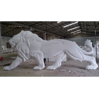 China Lion Embossed Stainless Steel Large Garden Animal Statues 316 Polished wholesale