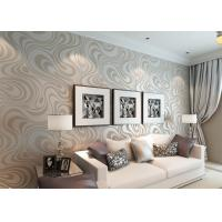 0.7*8.4M Removable Non  -woven Modern Luxury Wallpaper with Abstract Curve