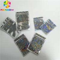 China Hologram Foil Pouch Packaging Heat Seal Star Flash Mylar Plastic Three Side Seal Zipper Bag wholesale