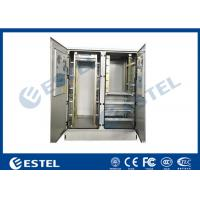 Buy cheap Communication Rack Outdoor Cabinet Two Compartments CE Certificated from wholesalers