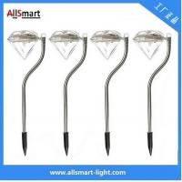 China RGB color Stainless Steel solar powered stake garden lights for pot plant wholesale