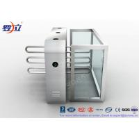China Fingerprint Reader Waist Height Turnstiles Stainless Steel Turnstyle Gate For Access Control wholesale