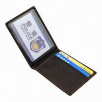 China Leather Card Holder, 100pcs MOQ, OEM Orders are Accepted wholesale