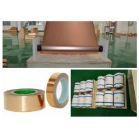 China SGS Red Electrodeposited Copper Foil , 99.95% Purity Copper Shielding Tape wholesale