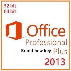 China Microsoft Office 2013 Product Key Card , Microsoft Office Professional Plus 2013 on sale