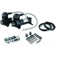 China Chick Black Dual Air Compressor  With Mounting Accessories , Steel And Chrome Material wholesale