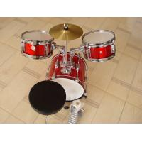 China Muse Basic Big Red 3 Piece Acoustic Drum Set For Kids / Children MU-3KL wholesale