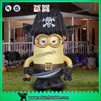 China Oxford Cloth Inflatable Cartoon Character Giant Inflatable Minions Customized Size wholesale