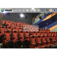 China 1 Seat 2 Seats Simulation Rides Movie Theater System 4D With Arc / Flat Screen wholesale