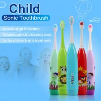 China Cartoon Children'S  Toothbrush Customized Color With 3 Brush Heads wholesale