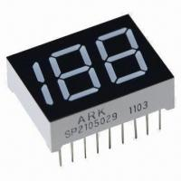 China Two Half Digits 0.5-inch 7 Segment Numeric LED Display, Industrial Standard Size wholesale