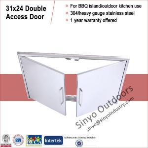 China Stainless steel grill island door, storage cabinet door, built-in on sale