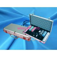 China Custom 300 Chip Poker Aluminum Carrying Case With Slot For Display , Silver on sale
