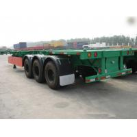 China 40 Feet Container Carrying Flat Bed Semi Trailer With JOST Landing Leg / semi flatbed trailers wholesale