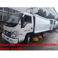 China Good quality antique Forland 4*2 LHD/RHD road guardrail cleaning truck for sale, Street sweeping vehicle for sale on sale