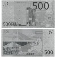 Quality Money Collection Silver 500 Euro Banknote for Collection for sale