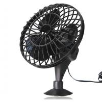 """China Black 4"""" Plastic Car Cooling Fan DC 12V Oscillating With On/Off Switch wholesale"""