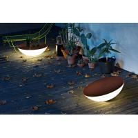 China Plastic cool outdoor solar decorative round table shape lights wholesale