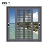 Heat Insulation Home Aluminum Sliding Glass Windows With Mosquito Net 1.4mm Thickness