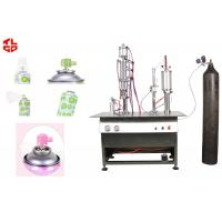 China Semi Automatic Aerosol Filling Machine For Breathing Fresh Air Spray Can wholesale
