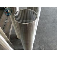 China 100 μm Rewind Industrial Wedge Wire Screen , From Inside To Outside Filter Type wholesale